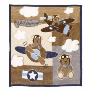 CoCaLo Lil' Aviator Soft & Cozy Blanket