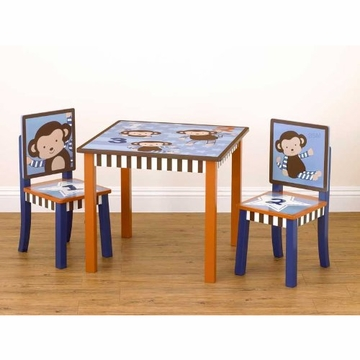 CoCaLo Monkey Mania Table & Two Chairs Set