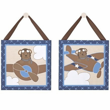 "CoCaLo Lil' Aviator 2-Piece Canvas Art - 10"" x 10"""