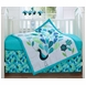 Bananafish Peacock Blue 3 Piece Crib Set