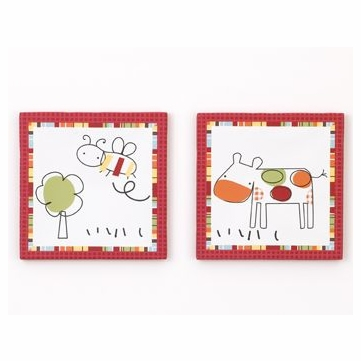 CoCo & Company Baby Farm 2-Piece Wall Art