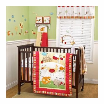 CoCo & Company Baby Farm 4-Piece Crib Set
