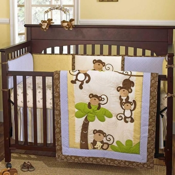 CoCo & Company Monkey Time 4-Piece Crib Set
