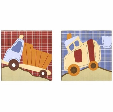 CoCo & Company Road Work 2-Piece Canvas Art
