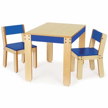 P'kolino Little One's Table & Chairs in Cobalt