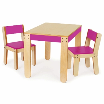P'kolino Little One's Table & Chairs in Fuchsia
