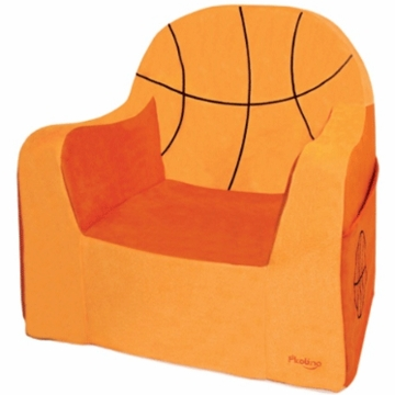 P'kolino Little Reader Embroidery Chair in Basketball