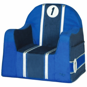 P'kolino Little Reader Embroidery Chair in Race Car