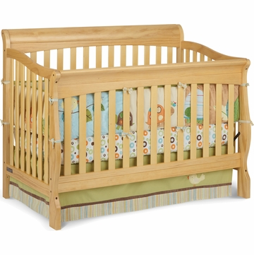 Delta Venetian Sleigh 4-in-1 Crib in Natural