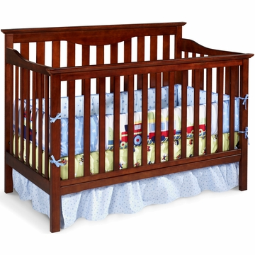 Delta Harlow 4-in-1 Crib in Dark Cherry