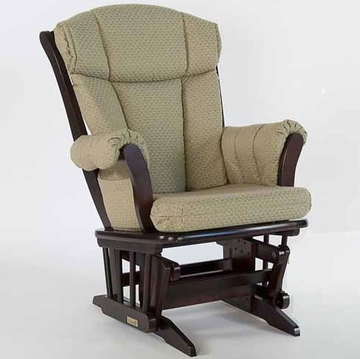 Dutailier 908100 Sleigh Glider in Espresso Finish with 1096 Fabric