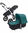 Bugaboo Cameleon 3 Bundle - Black Base / Petrol Blue Fabric Set