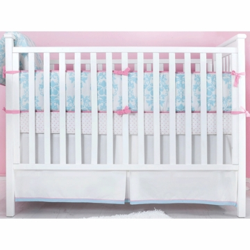 Novela Ela Baby Crib Bedding Set in Light Blue