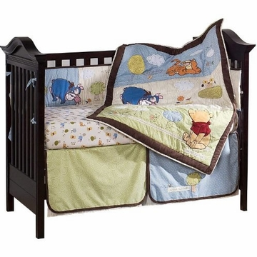 KidsLine Friendship Pooh 4 Piece Crib Set