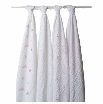 Aden + Anais 100% Cotton Wrap 4-Pack - Lovely