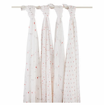 Aden + Anais 100% Cotton Wrap 4-Pack - Make Believe
