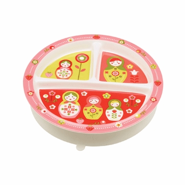 Sugar Booger Matryoshka Doll Divided Suction Plate