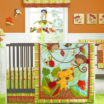 Kids Line Rainforest 7 Piece Crib Set