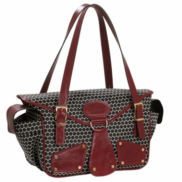 Mia Bossi Maria Diaper Bag Black Cherry