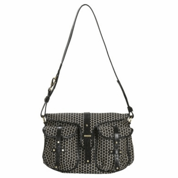 Mia Bossi Reese Diaper Bag Black Bean