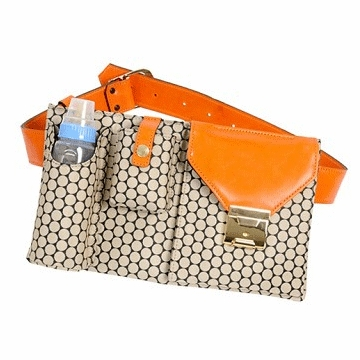 Mia Bossi Tobey Diaper Bag Small Tangerine