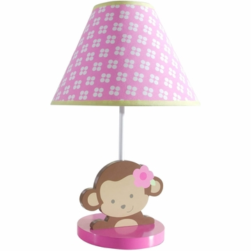Kids Line Sweet Monkey Lamp Base And Shade