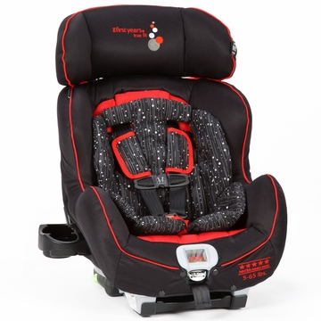 The First Years True Fit C650 Convertible Car Seat - Sticks & Stones (Black & Red)