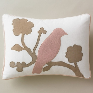 DwellStudio Vintage Blossom Blush Boudoir Pillow