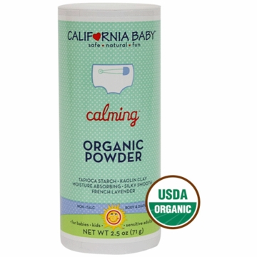 California Baby 334517 Calming Organic Powder-2.5 oz