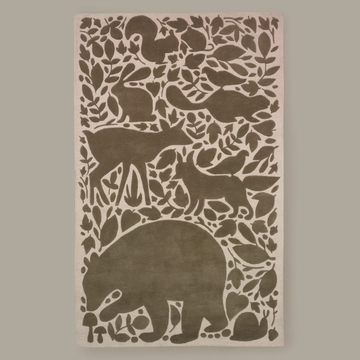 DwellStudio Woodland Tumble Chocolate Large Rug 5X8
