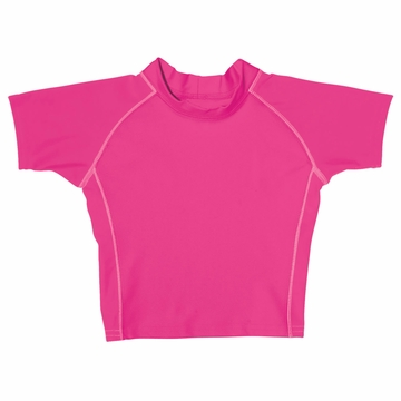 iPlay Short Sleeve Rashguard - Hot Pink - Small (6mo)