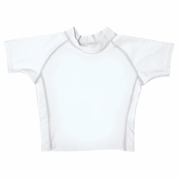 iPlay Short Sleeve Rashguard - White - Small (6mo)