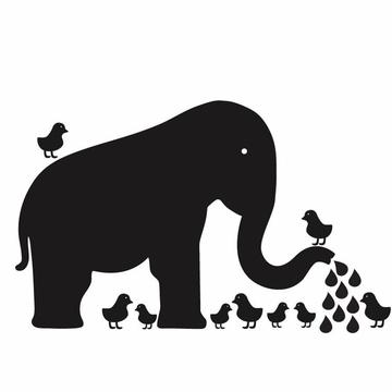 Wall Candy Baby Elephant Chalkboard Wall Decal
