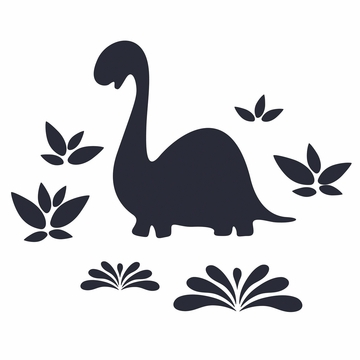 Wall Candy Chalkasaurus Wall Decals
