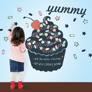 Wall Candy Chalkboard Cupcake Wall Decal
