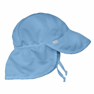 iPlay Solid Flap SunPro Hat - Light Blue - Toddler (2-4 yrs)