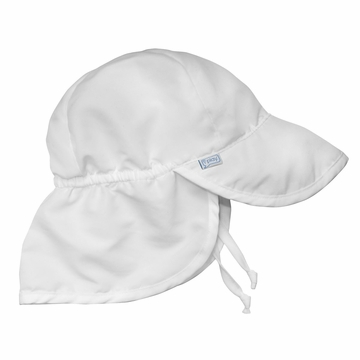 iPlay Solid Flap SunPro Hat - White - Newborn (0-6 mo)