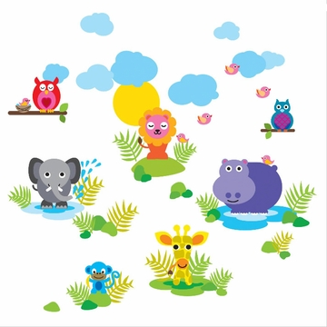 Wall Candy French Bull Jungle Wall Decals