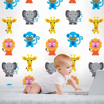 Wall Candy French Bull Jungle Party Peel-and-Stick Wallpaper - Full Kit