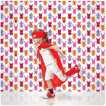 Wall Candy French Bull Monster Magenta Peel-and-Stick Wallpaper - Half Kit