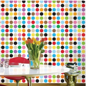 Wall Candy French Bull MultiDot Mini Peel-and-Stick Wallpaper - Half Kit