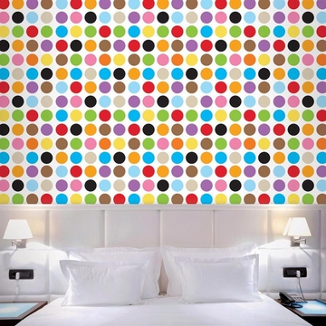 Wall Candy French Bull MultiDot Peel-and-Stick Wallpaper - Half Kit
