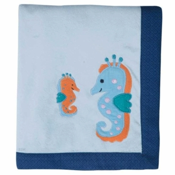 Lambs & Ivy Bubbles & Squirt Blanket