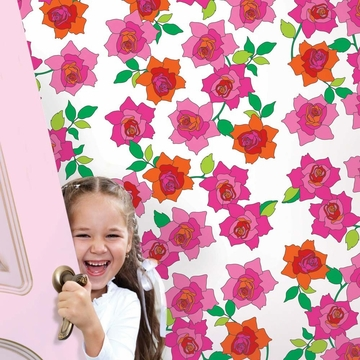 Wall Candy French Bull Rose Peel-and-Stick Wallpaper - Half Kit