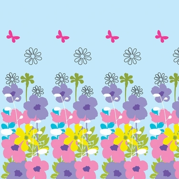 Wall Candy French Bull Shadow Flower Sky Peel-and-Stick Wallpaper - Half Kit