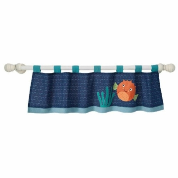 Lambs & Ivy Bubbles & Squirt Window Valance