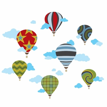 Wall Candy Hot Air Balloons Wall Decals