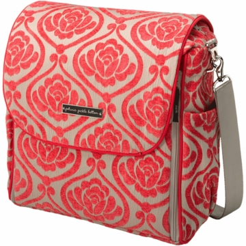 Petunia Pickle Bottom Boxy Backpack in Almond Raspberry