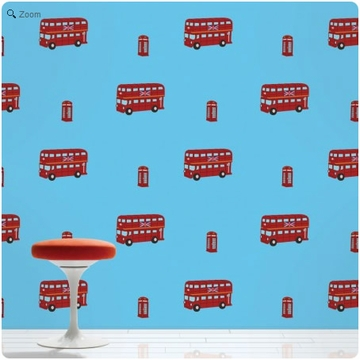Wall Candy London Bus Peel-and-Stick Wallpaper - Half Kit