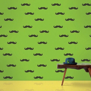 Wall Candy Mustache Peel-and-Stick Wallpaper - Full Kit